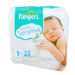 PAMPERS COUCHES NEW BABY SENSITIVE TAILLE 1 2-5 KG x 23 à Lacanau