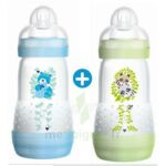 MAM BIBERON EASY START anti-colique 260 ml lot de 2_ BLEU & VERT à Lacanau