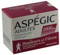 ASPEGIC ADULTES 1000 mg, poudre pour solution buvable en sachet-dose 15 à Lacanau