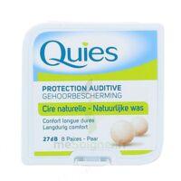 QUIES PROTECTION AUDITIVE CIRE NATURELLE 8 PAIRES à Lacanau