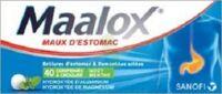 MAALOX HYDROXYDE D'ALUMINIUM/HYDROXYDE DE MAGNESIUM 400 mg/400 mg Cpr à croquer maux d'estomac Plq/40 à Lacanau