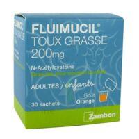 FLUIMUCIL EXPECTORANT ACETYLCYSTEINE 200 mg SANS SUCRE, granulés pour solution buvable en sachet édulcorés à l'aspartam et au sorbitol à Lacanau
