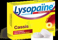 LYSOPAÏNE MAUX DE GORGE AMBROXOL CASSIS 20 mg SANS SUCRE, pastille édulcorée au sorbitol et au sucralose à Lacanau