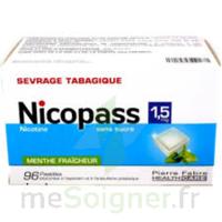 NICOPASS 1,5 mg SANS SUCRE MENTHE FRAICHEUR, pastille édulcorée à l'aspartam et à l'acésulfame potassique à Lacanau