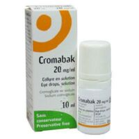 CROMABAK 20 mg/ml, collyre en solution à Lacanau