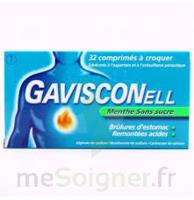 GAVISCONELL Coprimés à croquer sans sucre menthe édulcoré à l'aspartam et à l'acésulfame potas Plq/24 à Lacanau